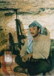 An undated picture handed out by the Palestinian Authority taken in Lebanon shows Palestinian President Yasser Arafat