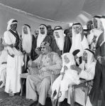 King Saud Surrounded by Family Members