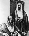 King Ibn Saud W/Son Saud Aziz